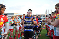 Francois Louw of Bath Rugby leads his team-mates off the field after the match. Aviva Premiership match, between Bath Rugby and Harlequins on February 18, 2017 at the Recreation Ground in Bath, England. Photo by: Patrick Khachfe / Onside Images