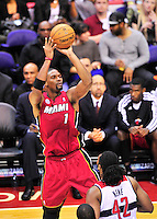 Heat's Chris Bosh pulls up for a jumper. Washington Wizards defeated the Miami Heat 105-101 at the Verizon Center in Washington, D.C. on Tuesday, December 4, 2012.   Alan P. Santos/DC Sports Box