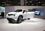 Nissan Motor Co.'s Qazana concept SUV is displayed during a pre-opening day for the media two days before the start of the 41st Tokyo Motor Show 2009 at Makuhari Messe in Chiba, Japan on Wed., Oct. 21 2009..Photographer: Robert Gilhooly