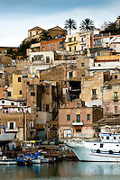 Port and village of Sciacca, Sicily, Italy
