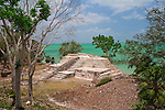 The Mayan site of Cerros on Corozal Bay in the Corozal District, Belize