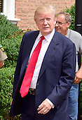 Donald Trump, a candidate for the 2016 Republican nomination for President of the United States, appears at the ribbon cutting for the Albemarle Estate at the Trump Winery in Charlottesville, Virginia on Tuesday, July 14, 2015. <br /> Credit: Ron Sachs / CNP<br /> <br /> (RESTRICTION: NO New York or New Jersey Newspapers or newspapers within a 75 mile radius of New York City)