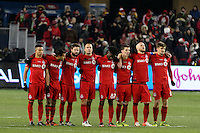 Toronto, ON, Canada - Saturday Dec. 10, 2016: Toronto FC during the MLS Cup finals at BMO Field. The Seattle Sounders FC defeated Toronto FC on penalty kicks after playing a scoreless game.