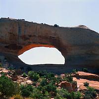 'Wilson Arch' near Moab, Utah, USA - Entrada Sandstone
