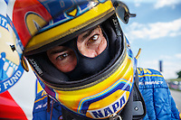 Jul 9, 2016; Joliet, IL, USA; NHRA funny car driver Ron Capps during qualifying for the Route 66 Nationals at Route 66 Raceway. Mandatory Credit: Mark J. Rebilas-USA TODAY Sports
