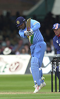 .29/06/2002.Sport - Cricket - .NatWest triangler Series England - Sri Lanka - India.England vs india 50 overs.  Lord's ground.India batting - Virender Sehwag ..