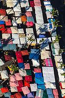 France, île de la Réunion, Saint Paul, marché hebdomadaire de Saint Paul,  vue aérienne  //  France, Ile de la Reunion (French overseas department), weekly open market of Saint Paul,  aerial view