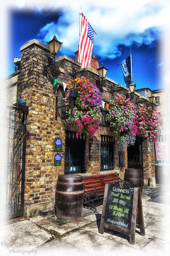 A view of the oldest pub in Ireland, The Brazen Head in Dublin which dates back to 1198.