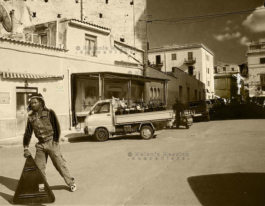 Ballaro' neighborood in Palermo.<br /> Quartiere Ballaro' di Palermo.