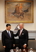 United States Vice President Joe Biden (R) and Vice President Xi Jinping of China hold an expanded bilateral meeting with other U.S. and Chinese officials in the Roosevelt Room at the White House February 14, 2012 in Washington, DC. While in Washington, Vice President Xi will meet with Biden, President Barack Obama and other senior Administration officials to discuss a broad range of bilateral, regional, and global issues. .Credit: Chip Somodevilla / Pool via CNP
