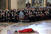Pope Francis the ceremony of the Good Friday Passion of the Lord Mass in Saint Peter's Basilica at the Vatican.