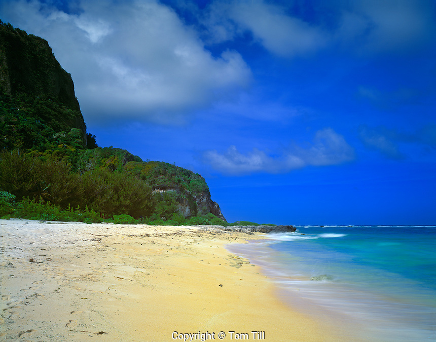 Tarague Beach  U.S. Territory of Guam  Pacific Ocean, Philippine Sea, Marianas Is. Anerson Air Force Base  morning