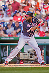 23 May 2015: Washington Nationals outfielder Denard Span in action against the Philadelphia Phillies at Nationals Park in Washington, DC. The Phillies defeated the Nationals 8-1 in the second game of their 3-game weekend series. Mandatory Credit: Ed Wolfstein Photo *** RAW (NEF) Image File Available ***