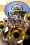 Members of the Mountain View High School band play music before their homecoming football game against Los Altos High School Sept. 21.<br />