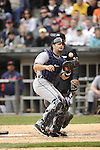 CHICAGO - APRIL 13:  Alex Avila #13 of the Detroit Tigers catches against the Chicago White Sox on April 13, 2012 at U.S. Cellular Field in Chicago, Illinois.  The White Sox defeated the Tigers 5-2.  (Photo by Ron Vesely)   Subject:  Alex Avila