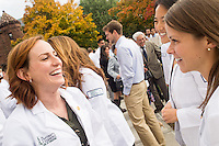 Tabitha Ford, left, Amy Hopkins, right. Class of 2017 White Coat Ceremony.