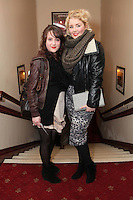 """NO REPRO FEE. 17/1/2010. The Field opening night. Jill Hardy and Rebecca Grimes are pictured at the Olympia Theatre for the opening night of John B Keanes 'The Field"""" Picture James Horan/Collins"""