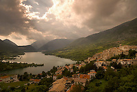 Abruzzo National Park, Italy, June 2008. The Medieval Village of Barrea overlooks the lake. Photo by Frits Meyst/Adventure4ever.com
