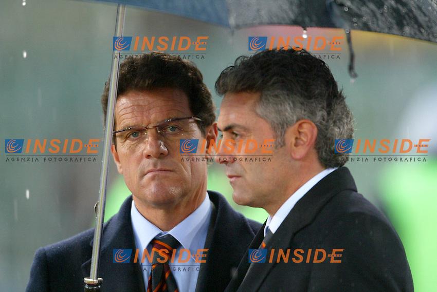 Roma 18/1/2004<br /> Roma Sampdoria 3-1<br /> Fabio Capello e Franco Baldini (Roma)<br /> Foto Andrea Staccioli Insidefoto