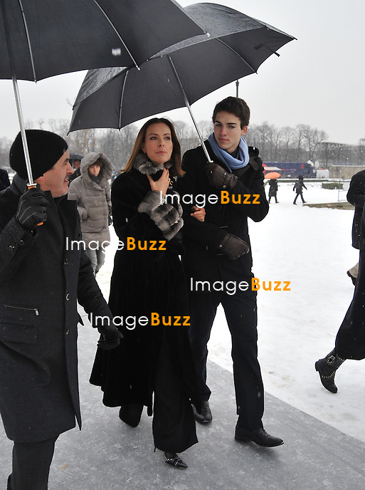Carole Bouquet attends the Dior fashion show, in Paris, France, on January 21 2013.