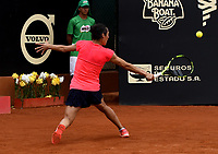BOGOTA - COLOMBIA – 15 – 04 - 2017: Francesca Schiavone de Italia, devuelve la bola a Lara Arruabarrena de España, durante partido por el Claro Colsanitas WTA, que se realiza en el Club Los Lagartos de la ciudad de Bogota. / Francesca Schiavonne from Italy, returns the ball to Lara Arruabarrena from Spain, during a match for the WTA Claro Colsanitas, which takes place at Los Lagartos Club in Bogota city. Photo: VizzorImage / Luis Ramirez / Staff.
