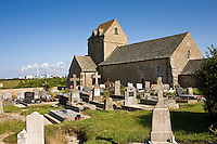Ancient church in Normandy, France