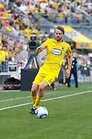 24 OCTOBER 2010:  Columbus Crew midfielder/forward Eddie Gaven (12) during MLS soccer game against the Philadelphia Union at Crew Stadium in Columbus, Ohio on August 28, 2010.