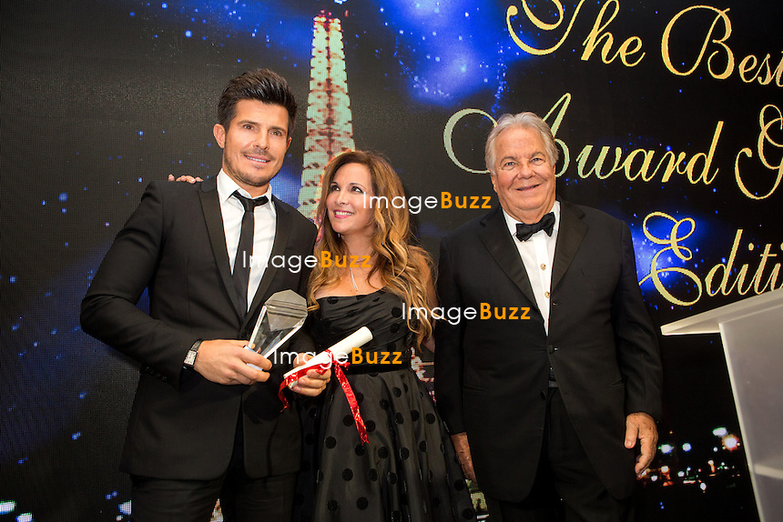 Vincent Niclo, H&eacute;l&egrave;ne S&eacute;gara &amp; Massimo Gargia : &quot; The Best &quot; 40th Edition &agrave; l'h&ocirc;tel George V.<br /> France, Paris, 27 janvier 2017.<br /> ' The Best ' 40th Edition at the George V hotel in Pais.<br /> France, Paris, 27 January 2017