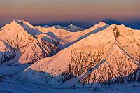 Mount Brooks (right) and Mount Mather (left), Alaska range, Denali National Park, interior, Alaska.
