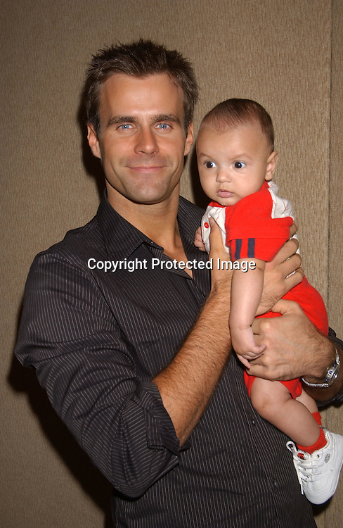 ..Cameron Mathison and son Lucas..at the All My Children Fan Club Luncheon on August 10,2003 at the Marriott Marquis Hotel in NYC. Photo by Robin Platzer, Twin Images