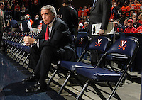 Jan. 27, 2011; Charlottesville, VA, USA; Maryland Terrapins head coach gary Williams watches his players before the start of the game against the Virginia Cavaliers at the John Paul Jones Arena. Mandatory Credit: Andrew Shurtleff