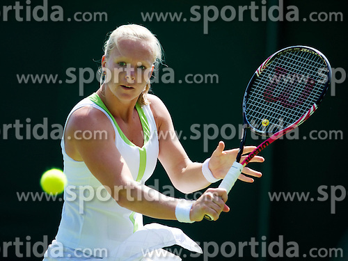 26.06.2012, Wimbledon, London, GBR, WTA, The Championships Wimbledon, im Bild Kiki Bertens (NED) during day two of the WTA Tour Wimbledon Lawn Tennis Championships at the All England Lawn Tennis and Croquet Club, London, Great Britain on 2012/06/26. EXPA Pictures © 2012, PhotoCredit: EXPA/ Propagandaphoto/ David Rawcliff..***** ATTENTION - OUT OF ENG, GBR, UK *****