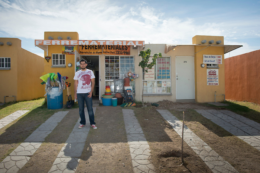 Julian Rodriguez Aguilar. Hardware store owners in Cajititlan, Jalisco,  Mexico.