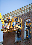 Construction crews work on the exterior walls of the main building at the Ridges on September 16, 2015. Photo by Emily Matthews
