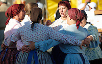 Women in traditional costume of the Gyor area - Hungarian Regional Gastronomic Festival 2009 - Gyor ( Gy?r ) Hungary