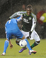 Portland Timbers vs Philadelphia Union during the MLS competition at Jeld-Wen Field, Portland Oregon, March 12, 2012.  The Portland Timbers defeated the Philadelphia Union 3-1.