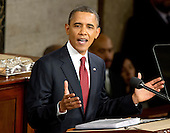 United States President Barack Obama delivers his State of the Union Address to a Joint Session of Congress in the U.S. Capitol in Washington, D.C., Tuesday, January 24, 2012..Credit: Ron Sachs / CNP.(RESTRICTION: NO New York or New Jersey Newspapers or newspapers within a 75 mile radius of New York City)