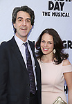 Jason Robert Brown and Georgia Stitt attend the Broadway Opening Night performance of 'Groundhog Day' at the August Wilson Theatre on April 17, 2017 in New York City