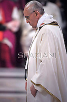 Pope Francis,celebrates a mass  at the Basilica of Saint Paul Outside the Walls in Rome.and presides over a ceremony in which he formally takes possession of the church.on April 14, 2013