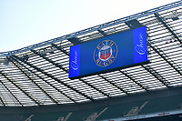 A general view of a big screen. The Clash, Aviva Premiership match, between Bath Rugby and Leicester Tigers on April 8, 2017 at Twickenham Stadium in London, England. Photo by: Patrick Khachfe / Onside Images