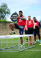 Levi Douglas of Bath Rugby in action. Bath Rugby pre-season skills training on June 21, 2016 at Farleigh House in Bath, England. Photo by: Patrick Khachfe / Onside Images