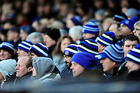 Bath supporters in the crowd watch the action. Aviva Premiership match, between Bath Rugby and London Irish on March 5, 2016 at the Recreation Ground in Bath, England. Photo by: Patrick Khachfe / Onside Images