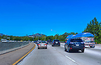 CA-101 Freeway, Agoura Hills, Calabasas, CA, limited access, divided highway, with, grade separated, junctions, without traffic lights or stop signs,
