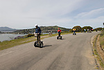 People on Segways on Angel Island in San Francisco Bay, California, CA..Photo camari230-70526..Photo copyright Lee Foster, www.fostertravel.com, 510-549-2202, lee@fostertravel.com