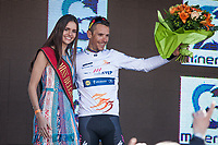 GC winner Philippe Gilbert (BEL/Quick Step floors) on the podium with Miss Belgium<br /> <br /> 3 Days of De Panne 2017