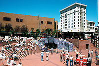 Portland: Pioneer Courthouse Square--1980. Bordered by Broadway, 6th, Yamhill & Morrison.  Photo '86.