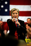 Hampton, New Hampshire, USA, 20080106: Presidential Hopeful Hillary Clinton speaking at the Winnacunnet High School.....Photo: Orjan F. Ellingvag/ Dagens Naringsliv