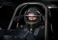 Sept. 4, 2011; Claremont, IN, USA: NHRA funny car driver Terry Haddock during qualifying for the US Nationals at Lucas Oil Raceway. Mandatory Credit: Mark J. Rebilas-