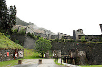 The 18th Century Fenestrelle Fort, the biggest fort in Europe, in the Piedmont region (Italy, 16/06/2010)
