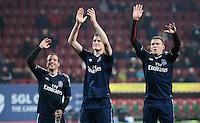 FUSSBALL   1. BUNDESLIGA  SAISON 2012/2013   9. Spieltag FC Augsburg - Hamburger SV           26.10.2012 Rafael van der Vaart, Marcell Jansen und Artjoms Rudnevs (v. li., Hamburger SV)
